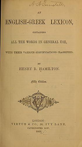 An English-Greek lexicon (1868) [Reprint]: Hamilton, Henry R.
