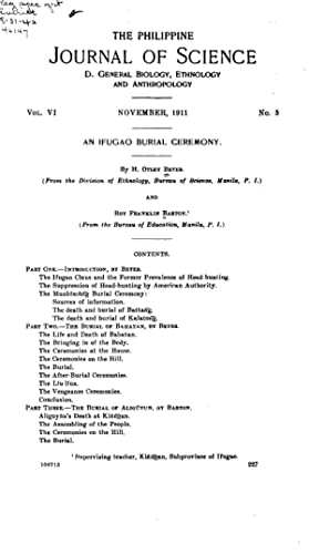An Ifugao burial ceremony (1911) [Reprint]: Beyer, H. Otley