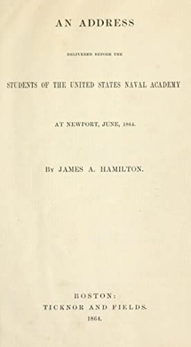 An address delivered before the students of: Hamilton, James A.