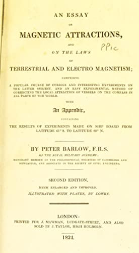 An essay on magnetic attractions, and on: Barlow, Peter, 1776-1862,Lowry,