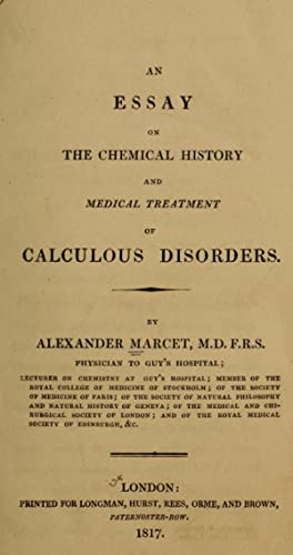 essay chemical history medical treatment calculous disorders
