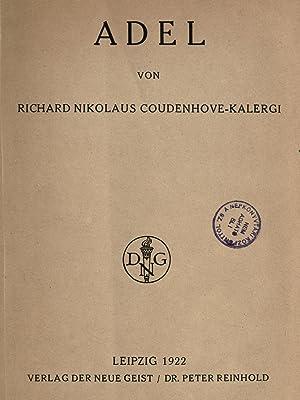 Adel (1922) [Reprint]: Coudenhove-Kalergi, Richard Nicolaus,