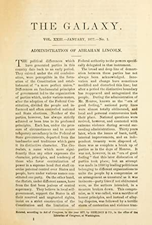 Administration of Abraham Lincoln [Reprint] (1877): Welles, Gideon, 1802-1878