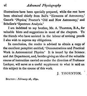 Advanced Physiography (1890) [Reprint]: M.A. John Thornton