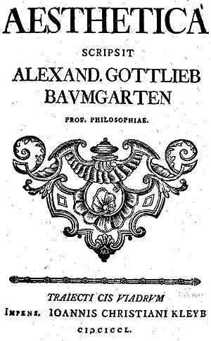 Aesthetica (1750) [Reprint]: Alexander Gottlieb Baumgarten
