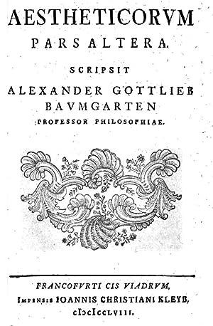Aesthetica (1758) [Reprint]: Alexander Gottlieb Baumgarten