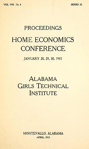 Alabama Girls' Technical Institute Bulletin: Proceedings Home: Alabama Girls' Technical