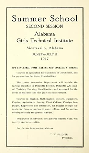Alabama Girls' Technical Institute Bulletin: Proceedings of: Alabama Girls' Technical