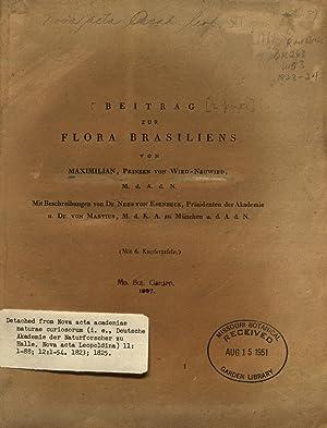 Beitrag zur Flora Brasiliens /von Maximilian, Prinz: Academiae Caesareae Leopoldino-Carolinae.,Kaiserlichen