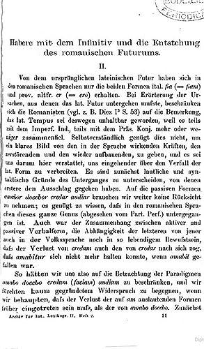 Archiv für lateinische Lexikographie und Grammatik mit: Eduard von Wölfflin