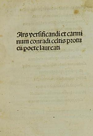 Ars versificandi et carminum (con aggiunte di: Celtis, Konrad