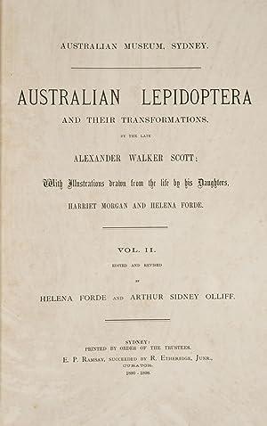 Australian lepidoptera and their transformations, drawn from: Scott, Alexander Walker,