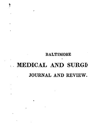 Baltimore Medical Surgical Journal Review - AbeBooks