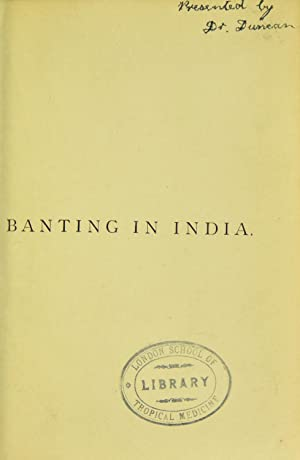 Banting in India : with some remarks: Duke, Joshua, 1847-,Banting,