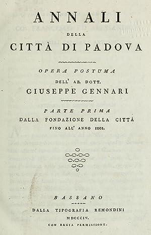 Annali della città di Padova (1804) (Volume: Gennari, Giuseppe, 1721-1800,Gennari,