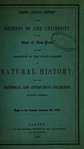 Annual report of the regents of the: New York State