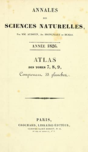 Annales des sciences naturelles (1824) (Volume: Atlas: Audouin, Jean Victor,