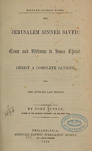 Bunyan's inviting works; (1850) [Reprint]: Bunyan, John, 1628-1688,Brown,
