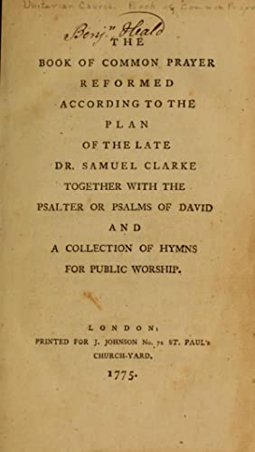 Book of common prayer reformed according to: Unitarian Church (Great