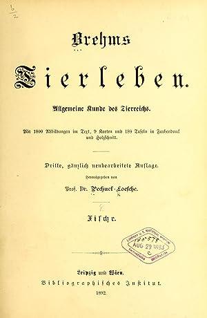 Brehms Tierleben : allgemeine Kunde des Tierreichs: Brehm, Alfred Edmund,
