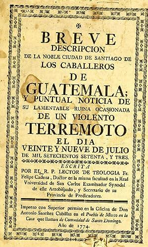 Breve descripcion de la noble ciudad de: Cadena, Felipe,Padilla, Mariano.