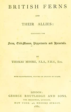 British ferns and their allies : comprising: Moore, Thomas, 1821-1887