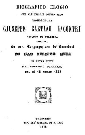 Biografico elogio che all'insigne confratello monsignore Giuseppe: Teofilo Fantozzi