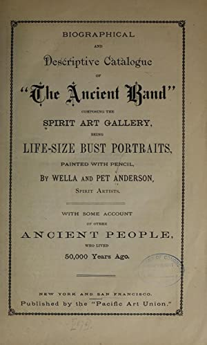 """Biographical and descriptive catalogue of """"The ancient: Anderson, Wella P,Anderson,"""