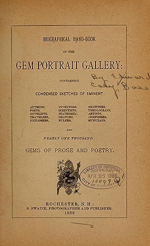 Biographical handbook of the Gem portrait gallery.: Bass, Edward C.