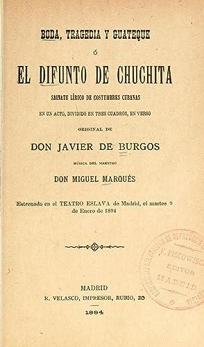 Boda, tragedia y guateque, o, El difunto: Marquà s, Pedro
