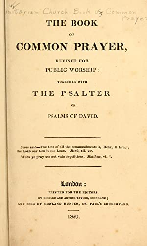 Book of common prayer, revised for public: Unitarian Church (Great