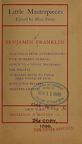 Benjamin Franklin : Selections from autobiography, Poor: Franklin, Benjamin, 1706-1790,Perry,