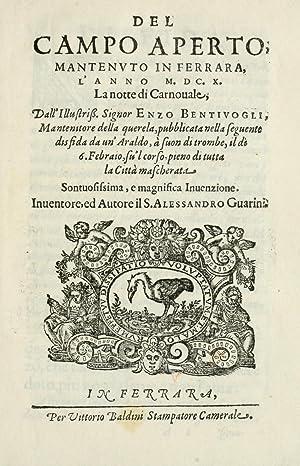Del campo aperto, mantenvto in Ferrara, l': Guarini, Alessandro, d.