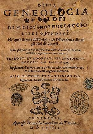 Della genealogia de gli dei di m.: Giovanni Boccaccio