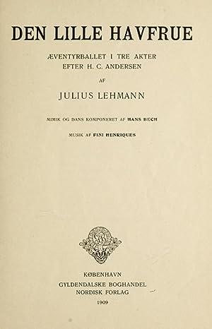 Den lille havfrue, aeventyrballet i tre akter: Henriques, Valdemar Fini,