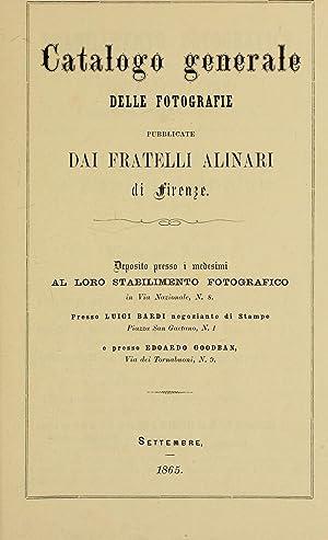 Catalogo generale delle fotografie publicate dai Fratelli: Fratelli Alinari