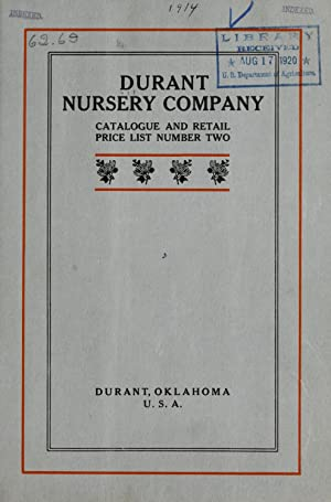 Catalogue and retail price list number two: Durant Nursery Company,Henry