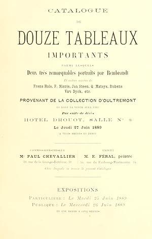 Catalogue de douze tableaux importants : parmi: Hôtel Drouot