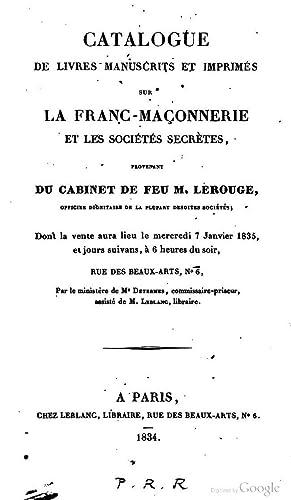 Catalogue de livres manuscrits et imprimà s: Andrà Joseph Étienne