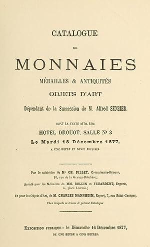 Catalogue de monnaies, médailles & antiquités, objets: Hôtel Drouot,Pillet, Ch.