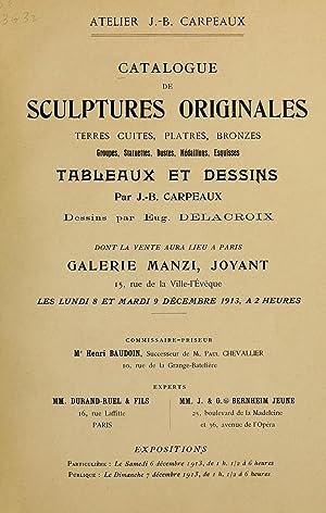 Catalogue de sculptures originales : terres cuites,: Carpeaux, Jean Baptiste,