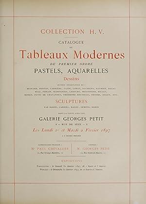 Catalogue de tableaux modernes de premier ordre,: Galerie Georges Petit,Chevallier,