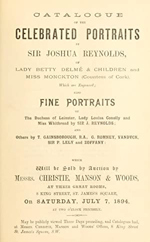 Catalogue of the celebrated portraits by Sir: Christie, Manson &