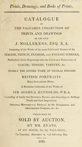 Catalogue of the valuable collection of prints: Evans, apothecary