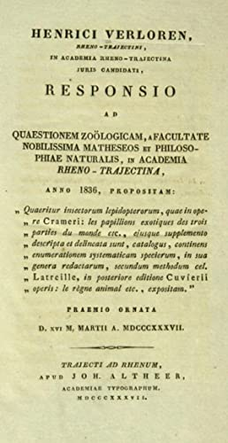 Catalogus systematicus lepidopterorum, quae in opere Crameri: Verloren, Heinrich, -1885,Verloren,