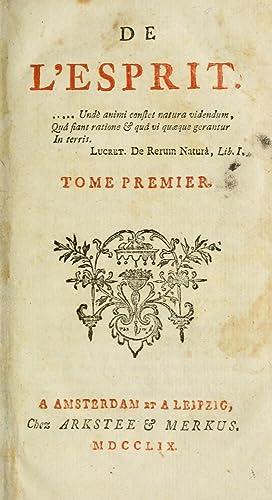 De l'esprit (1759) (Volume: 1) [Reprint]: Helvetius, 1715-1771