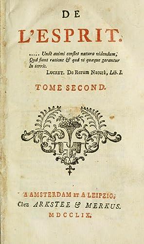 De l'esprit (1759) (Volume: 2) [Reprint]: Helvetius, 1715-1771