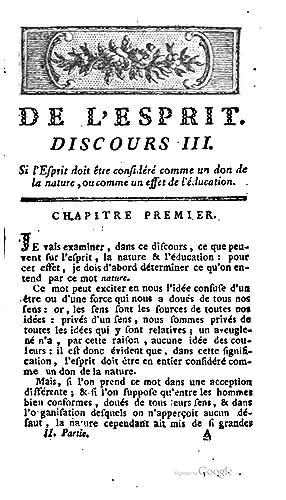 De l'esprit [Reprint] (1791): Helvétius