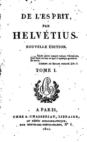 De l'esprit (1822) [Reprint]: Helvà tius, Claude