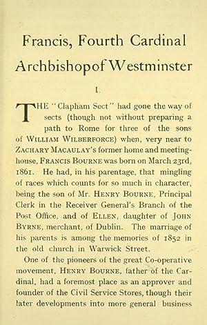 Cardinal Bourne : a record of the: Cardinal Bourne